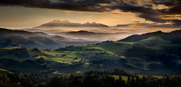 Panoramic View from Pieniny Mountains